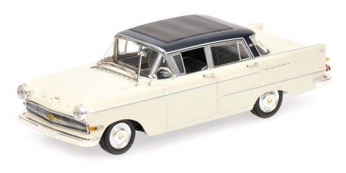 1959 Opel Kapitän [Minichamps 430040008], White / Blue, 1:43 Die Cast