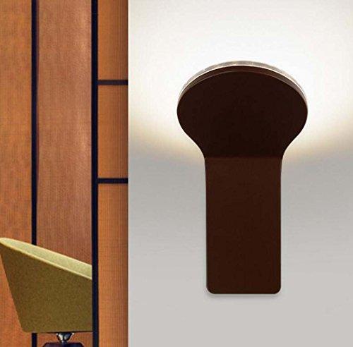 Post-moderne Wandleuchte, einfache kreative Persönlichkeit LED-Halterung Licht, Wohnzimmer Schlafzimmer Badezimmer Hotel Club Treppe Gang Wandleuchte Weiß, warmes Licht (Farbe : Schwarz) (Post Voll Low)