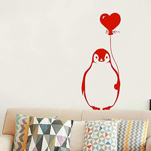 zhuziji Wandtattoo Cartoon Pinguin Ballon Vinyl Wandaufkleber Für Kinderzimmer Niedlichen Tier Hohe Qualität Abnehmbare Art Home De weiß 57x141 cm -