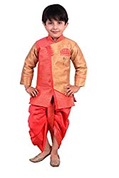 Arshia Fashions Boys Dhoti Kurta set ethnic wear for boys - Pink