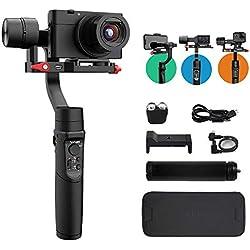 Hohem iSteady Multi 3 Axes Stabilisateur pour Caméra d'action Numérique et Smartphone,Gopro 7/6/5,Vidéo Stable,8h de Travail,Nouvelle APP,Rotation de 600°
