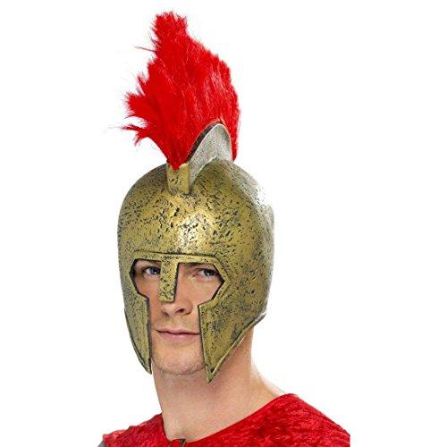 Helm Römerhelm Gold Gladiatorenhelm Spartacus Helm Kriegerhelm Römer Grieche Spartaner Kostüm Zubehör (Spartacus Gladiator Kostüme)