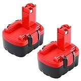 2X Reoben 14,4V 3000mAh Ni-MH Batterie Remplaçable pour Bosch BAT038 BAT040 BAT041 BAT140 BAT159 2607335685 2607335533 2607335534 2607335711 (2PACK)