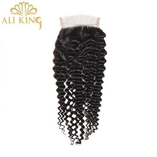 Natur Curl-clip-in ([ALI KING] Kinky-Curly Clip in 12 Zoll Jungfrau Remy Menschenhaar-Verlängerungen Thick Natur Schwarz Curls Haare für Frauen 4x4-Spitze-Frontverschluss Perücken Menschlichen 130% Dichte)