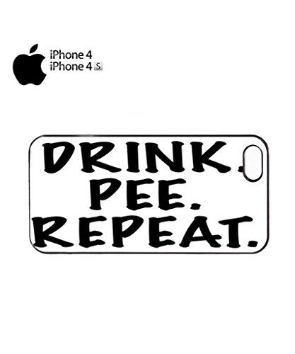 Drink Pee Repeat Beer Pub Drunk Mobile Cell Phone Case Cover iPhone 5c Black Schwarz