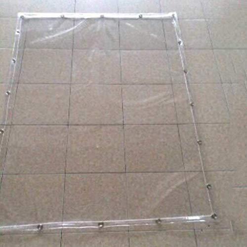 XY&CF-tarpaulin Kunststoff transparentes Tuch Plane Plane Balkon Windschutzscheibe Regenschutz Tuch PVC transparenter Weichkunststoff, Verschiedene Größen 400G / M² (größe : 1.1 * 2m)