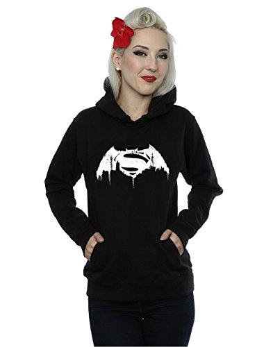 DC Comics Donna Batman v Superman Beaten Logo Felpa con cappuccio Large Nero