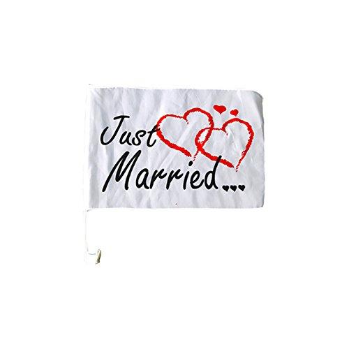 ried | Brautpaar | Hochzeit | Autocorso | Hochzeitsgesellschaft | Fahne | Herzen | Preis am Stiel® ()