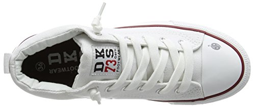 Dockers by Gerli 38ay603-710, Baskets hautes mixte enfant Blanc (Weiss 500)