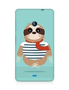 Amez designer printed 3d premium high quality back case cover for Microsoft Lumia 535 (Sloth)