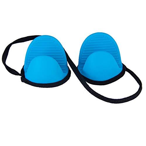 Handschuhe Silikon Hot Pot Holder Ofenhandschuhe Mini Topflappen Kochen , Hangable Neck (UnitCount : One pair) Mitt Pot Holder