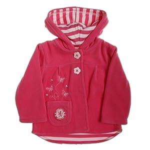 Chelsea Football Club - Chaqueta con capucha para chicas (forro polar), diseño de bordado de mariposas de Brecrest