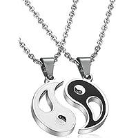 2-Piece Yin Yang Magic Pendant Couples Necklace