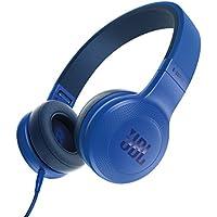 JBL E35 On-Ear Leicht Kopfhörer im Faltbaren Design mit 1-Tasten-Fernbedienung und Abnehmbarem Mikrofonkabel - Blau