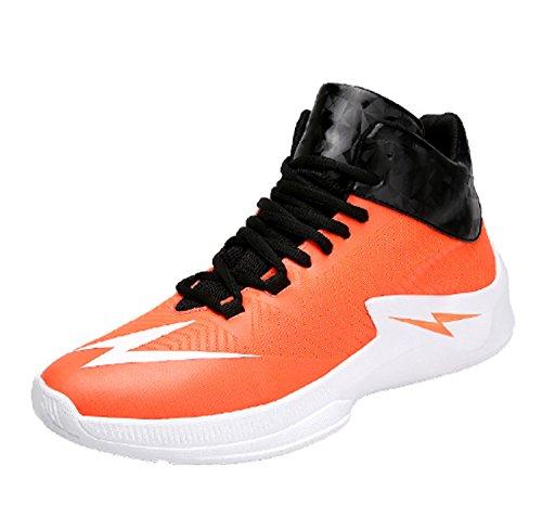 Scarpe da pallacanestro Uomo basso per aiutare le scarpe sportive da uomo Uomo Cravatta di combattimento effettivo per indossare scarpe traspiranti Scarpe da estate inverno Taglia 45 46 ( Color : Orange , Size : US10.5/EU43/UK9.5/CN45 )