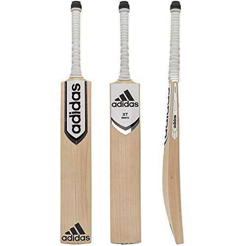 adidas XT Weiß 4.0Cricket Bat, AA0075, Weiß/Schwarz/Silber, SH 2lb 8oz