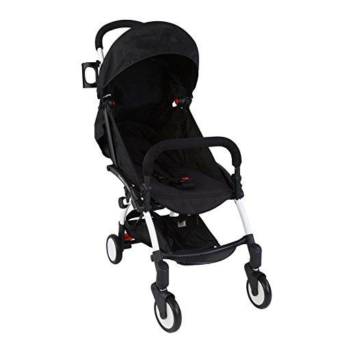 Zerodis Faltender Leichter Kinderwagen Buggy für Neugeborenen Reise mit Organisator Halter 5 Punkt Sicherheit Wölbung (Leichte Kinderwagen Neugeborene)