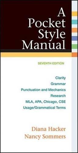 A Pocket Style Manual by Diana Hacker (2014-09-24) par Diana Hacker;Nancy Sommers