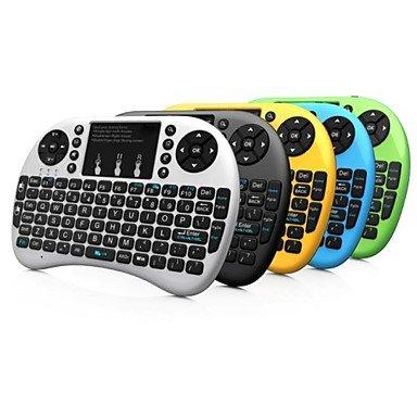 Rii Mini i8+ 2.4G Wireless 92Tasten der Tastatur mit Touchpad für Google TV Box/PS3/PC gelb
