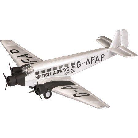 junkers-ju-52-diecast-model-british-airways-london-gatwick-airport-england-1936-172-scale-by-corgi