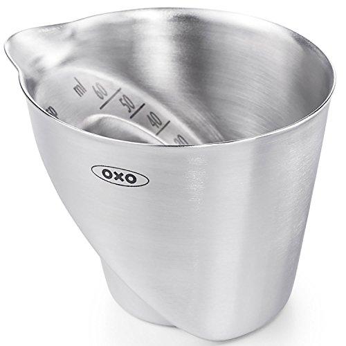 OXO Stahlmessbecher, schräg, silbern 3 Oz-jigger