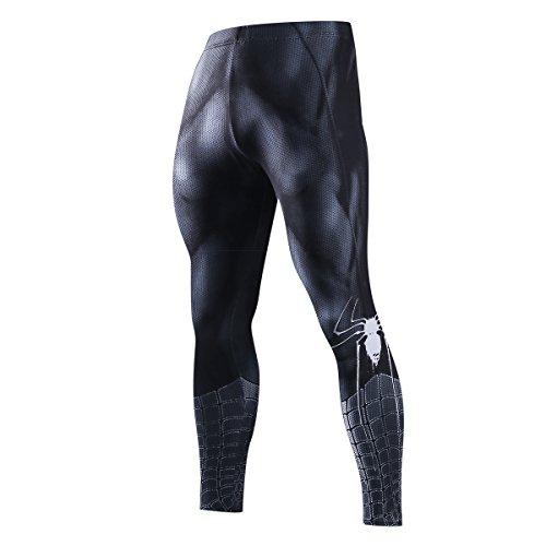 41mcVZV08ML. SS500  - Fringoo® Mens Compression Superhero Tights Pro Base Layer Leggings Gym Long Running Thermal Workout Spider Superman Bat