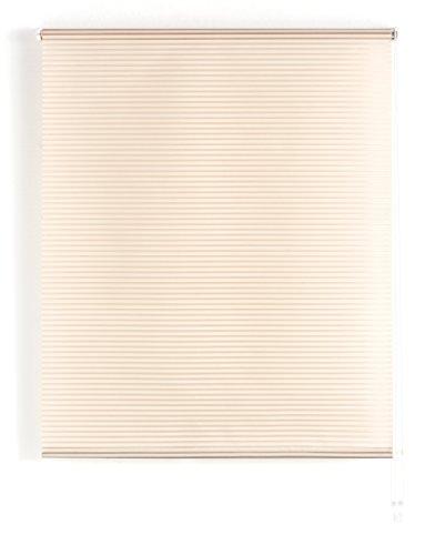 Blindecor Iris Estor Enrollable Translucido Rayado, Tela, Marfil, 160 x 180 cm