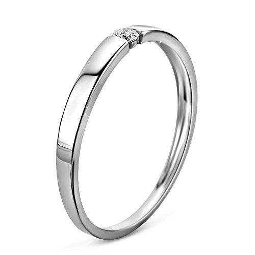 Orovi anello per donna anello di fidanzamento anello solitario oro diamante anello in oro bianco carati (375) 0.05brillanti crt o anello in oro giallo con diamanti e oro bianco, 62 (19.7), colore: gold, cod. or72136r62