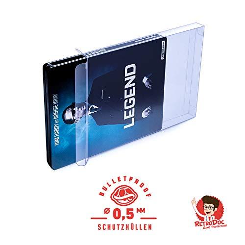 20 Klarsichtschuber Klarsichthüllen Schutzhüllen BLU RAY STEELBOOK - 0,5MM - ARMOURED - BOX OVP - PS3 - PS4 - Spiele Filme Originalverpackung Passgenau Glasklar Panzerglasoptik