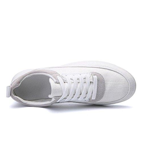 Chaussures De Sport Pour Hommes Chaussures En Toile Plat Respirant Chaussures De Sport De Danseurs € Formateurs Blanc Taille 39-44