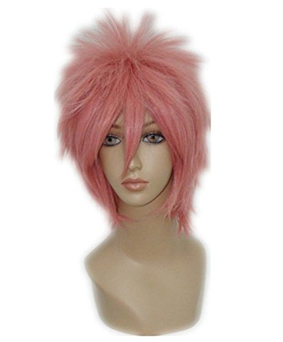 etruke Anime court Fairy Tail Natsu Dragneel rose cosplay perruques