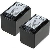 2x subtel® Batería premium para Sony FDR-AX53 FDR-AX33 FDR-AX100E, HDR-CX280 HDR-CX305 HDR-CX425 HDR-CX570 HDR-CX625 HDR-CX730 HDR-CX900, HDR-PJ530 HDR-PJ650 HDR-PJ810, HDR-XR155, HDR-TD10, DCR-SX34, NEX-VG900, DEV-50 (1500mAh) NP-FV70,NP-FV100 bateria de repuesto, pila reemplazo, sustitución
