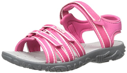 Teva Tirra C's, Sandales Bout Ouvert Fille Rose (Pink)