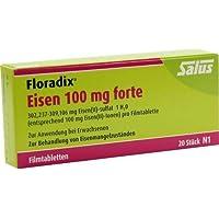 Preisvergleich für FLORADIX Eisen 100 mg forte Filmtabletten 20 St