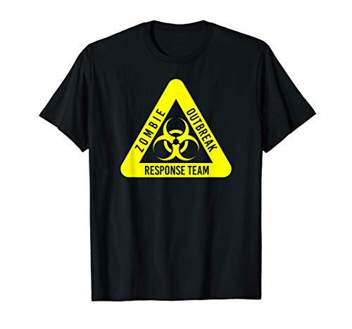 Zombie-Ausbruchsreaktion Lustige Biogefahr in Gelb T-Shirt (Zombie Response Kostüm)