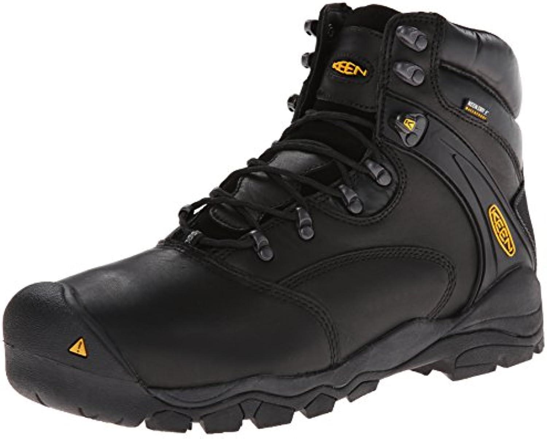 Keen Utility Men's Louisville 6 Steel Toe Work Boot Black 7 EE US