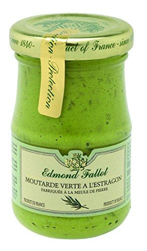 Edmond Fallot – Senf mit Estragon (Moutarde verte a l'Estragon) im Glas, 105 g