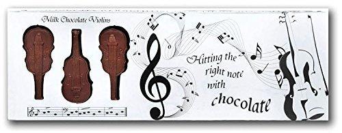 Preisvergleich Produktbild Musik Liebhaber Geschenk Musikinstrument Design Belgische Mini Milchschokolade Kiste Von 8 - Violinen
