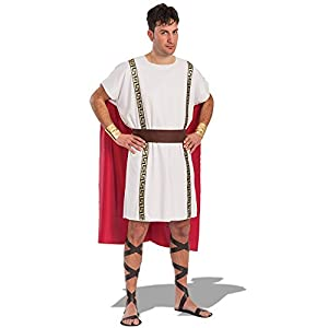 Carnival Toys - Disfraz romano en bolsa, talla única, color blanco (80395)