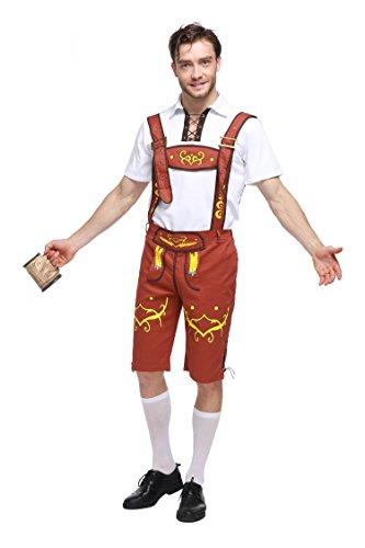 VENI MASEE Tranditional German Girl/Herren bayerischen Bier Oktoberfest Yodeler Maiden Tavern Kellnerin Wench Halloween Kostüm - ()
