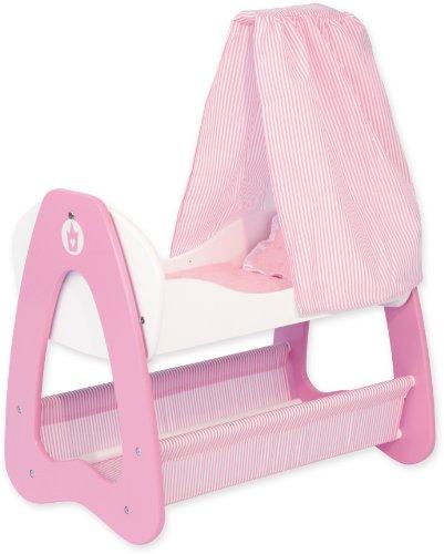 Bayer Design 52001 - Culla a dondolo per bambole di legno ca. 54 x 36 x 69 cm principessa rosa