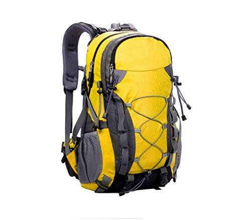 Yy.f Sacchetti Di Alpinismo Esterno Borsa Ampia Corsa Capacità Di Spalla Borse 40L Litri Impermeabile Campeggio Trekking Zaino Multifunzionale. Multicolore Yellow