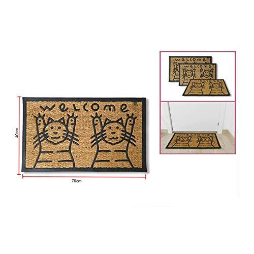 Dabuty Online, S.L. Felpudo hogar Antideslizante 40x70 Diseño Gatitos