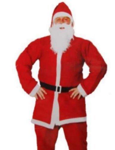 Traditionelle & Festival Herren Santa Anzug Kostüm für Erwachsene Fancy Kleid erhältlich in 38/101,6cm (Kostüme Erwachsene Santa Anzug)