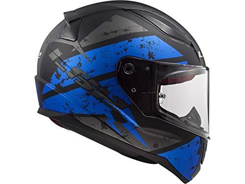 LS2 STARK FF353 RAPID DEADBOLT - Casco da moto, taglia: S, colore: nero opaco/blu/nero/blu