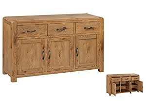 Caprice Solid Oak Large Sideboard With 3 Doors And 3