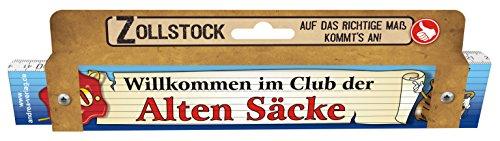 Zollstock für Männer Alte Säcke 50 Spezialzollstock Willkommen im Club der Alten Säcke zum 50. Geburtstag 30091