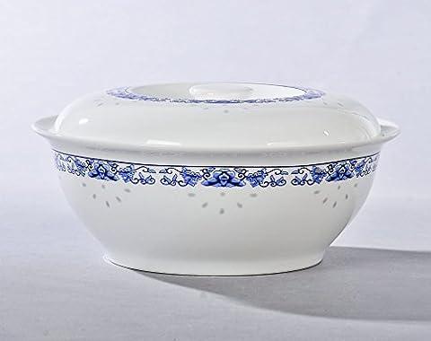 PORCELAINE anglaise grands bols à soupe 22,9cm avec couvercle Bol en céramique