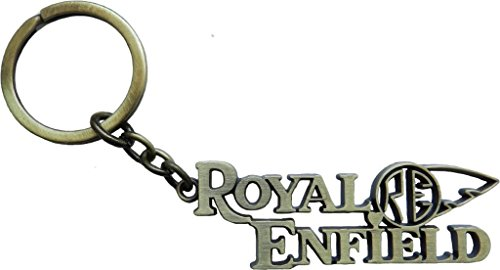 GCT Royal Enfield Motorcycles RE Logo Metal Keychain | Keyring | Key Chain for your Bike Home Office Keys | for Men Women Boys Girls | for Bullet Classic 350 Thunderbird 500 Electra (Golden/Gold)  available at amazon for Rs.229