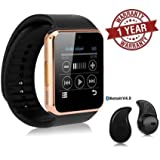 #4: Premium Design Apple iPhone 7 Plus Compatible Bluetooth Smart Watch GT08 Phone With Camera and Sim Card & SD Card Support with free Bluetooth Shower Speaker (Random Colour)